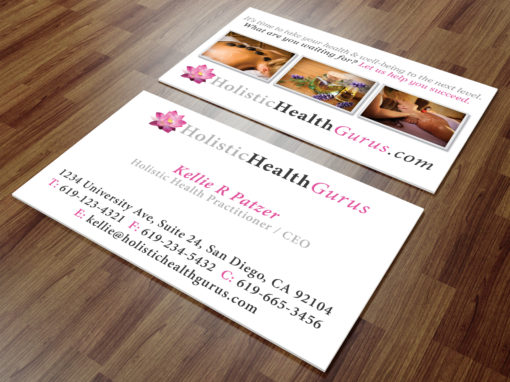 Holistic Health Gurus Business Cards