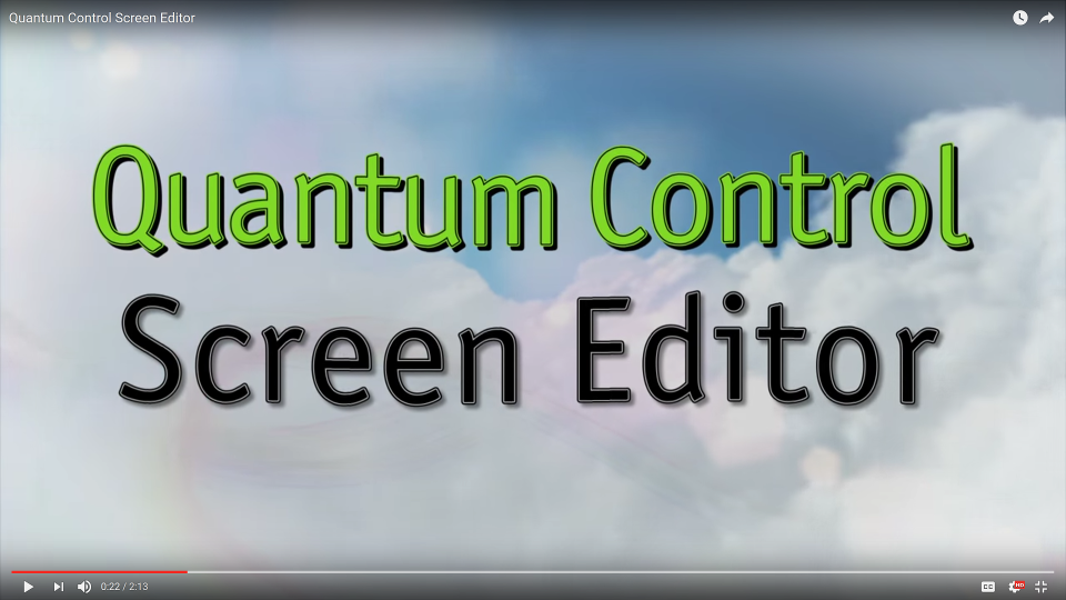 Quantum Control Screen Editor